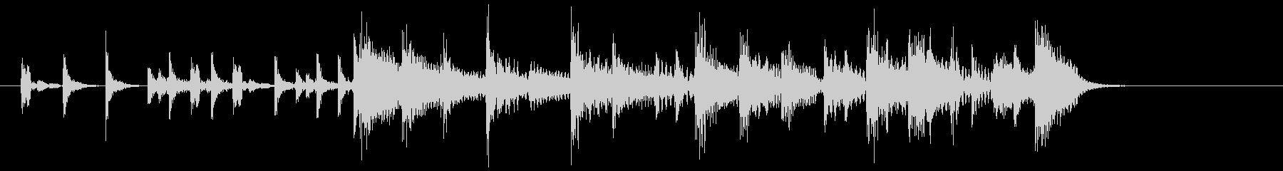 (7秒)エレキとピアノのポップなジングルの未再生の波形