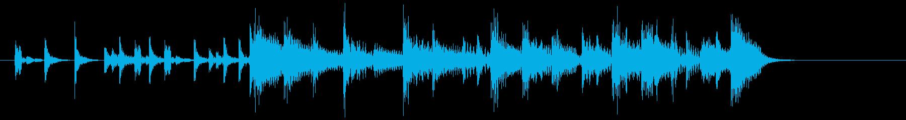 (7秒)エレキとピアノのポップなジングルの再生済みの波形