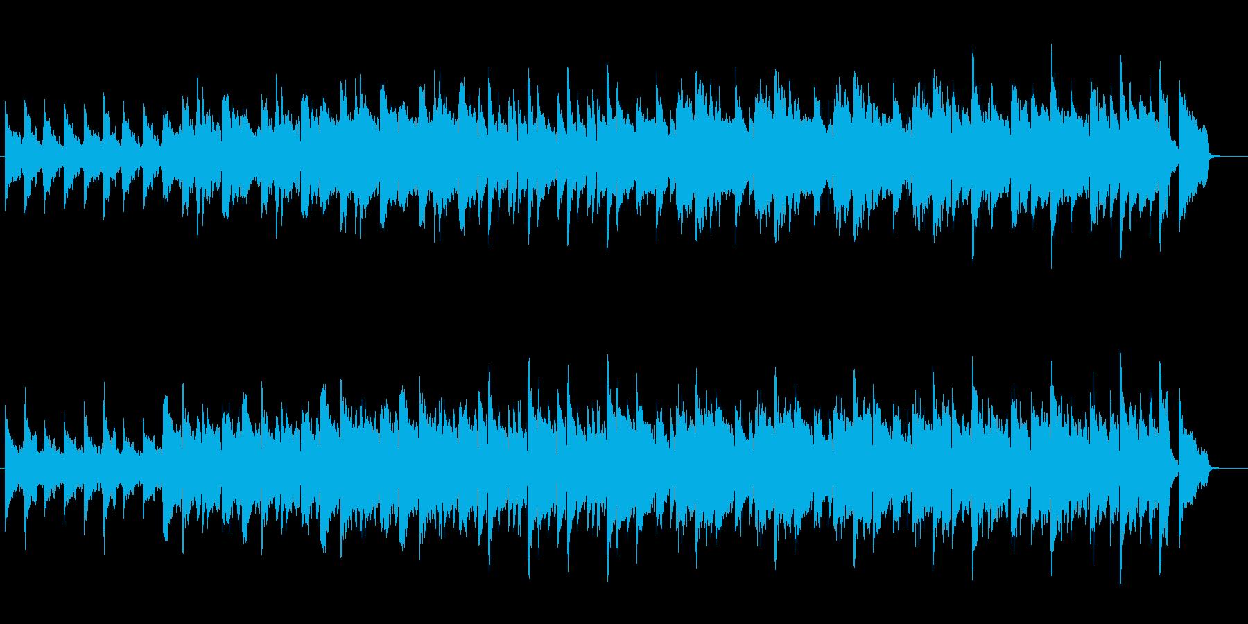 優しいスローアンビエントバラードの再生済みの波形