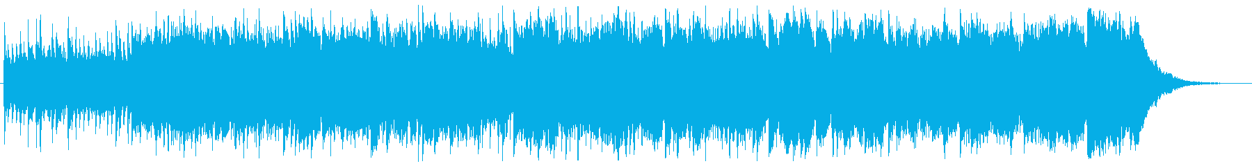 緊張感のあるシネマティックなBGMの再生済みの波形