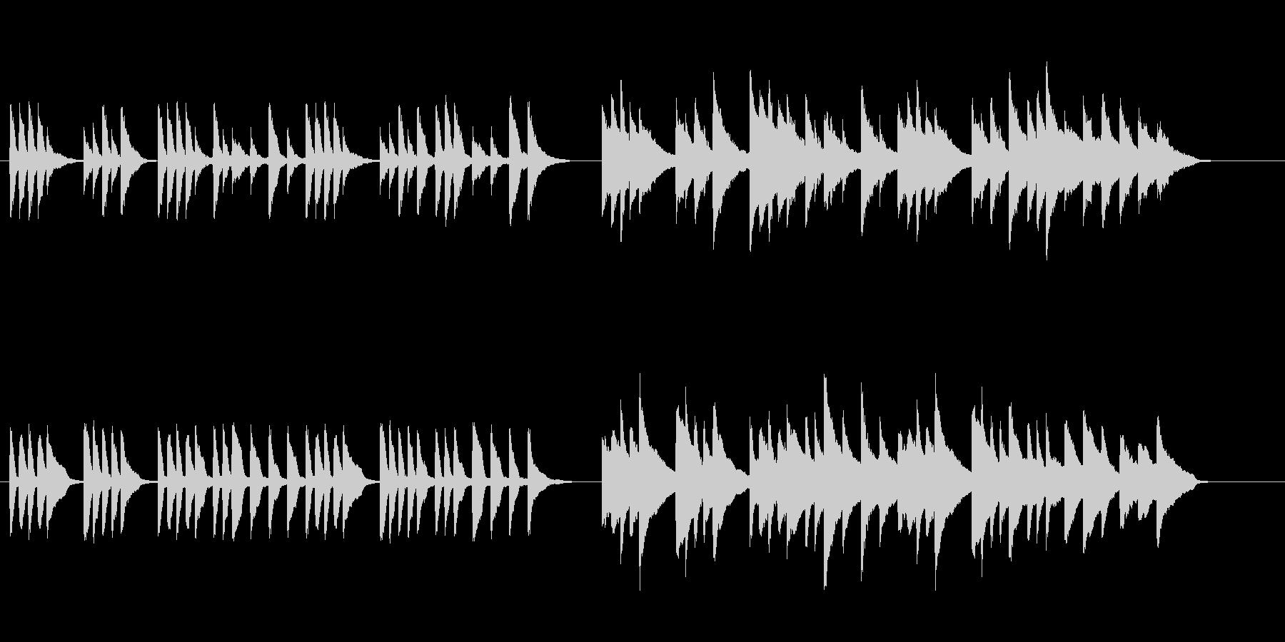 場面チェンジに使えるほのぼのしたピアノ曲の未再生の波形