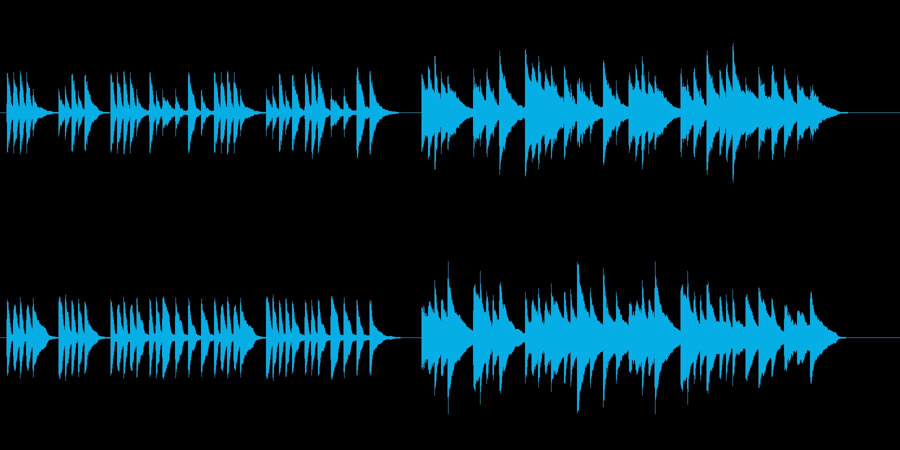 場面チェンジに使えるほのぼのしたピアノ曲の再生済みの波形