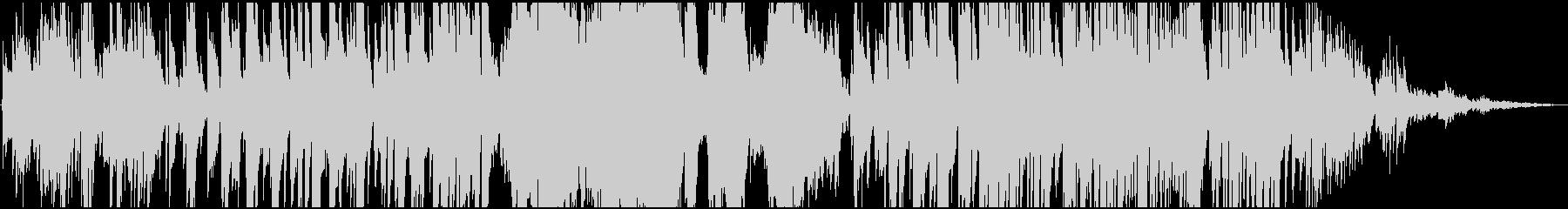 ゆったりながらシリアスな雰囲気のBGMの未再生の波形