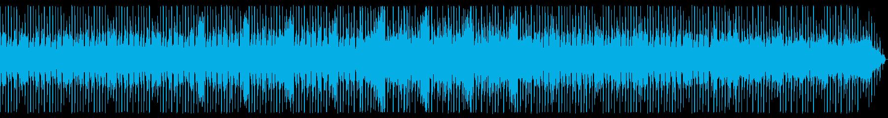 近未来 電子音 疾走感のあるテクノの再生済みの波形