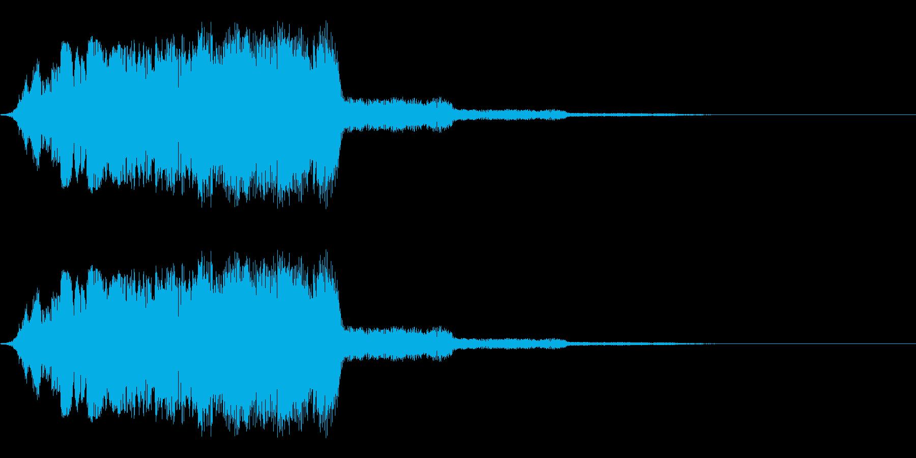 技の発動やキメのアクションのイメージで…の再生済みの波形
