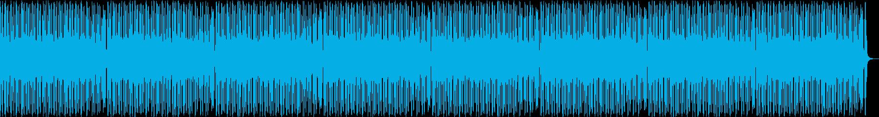 おしゃれでクールなファンキーBGMの再生済みの波形