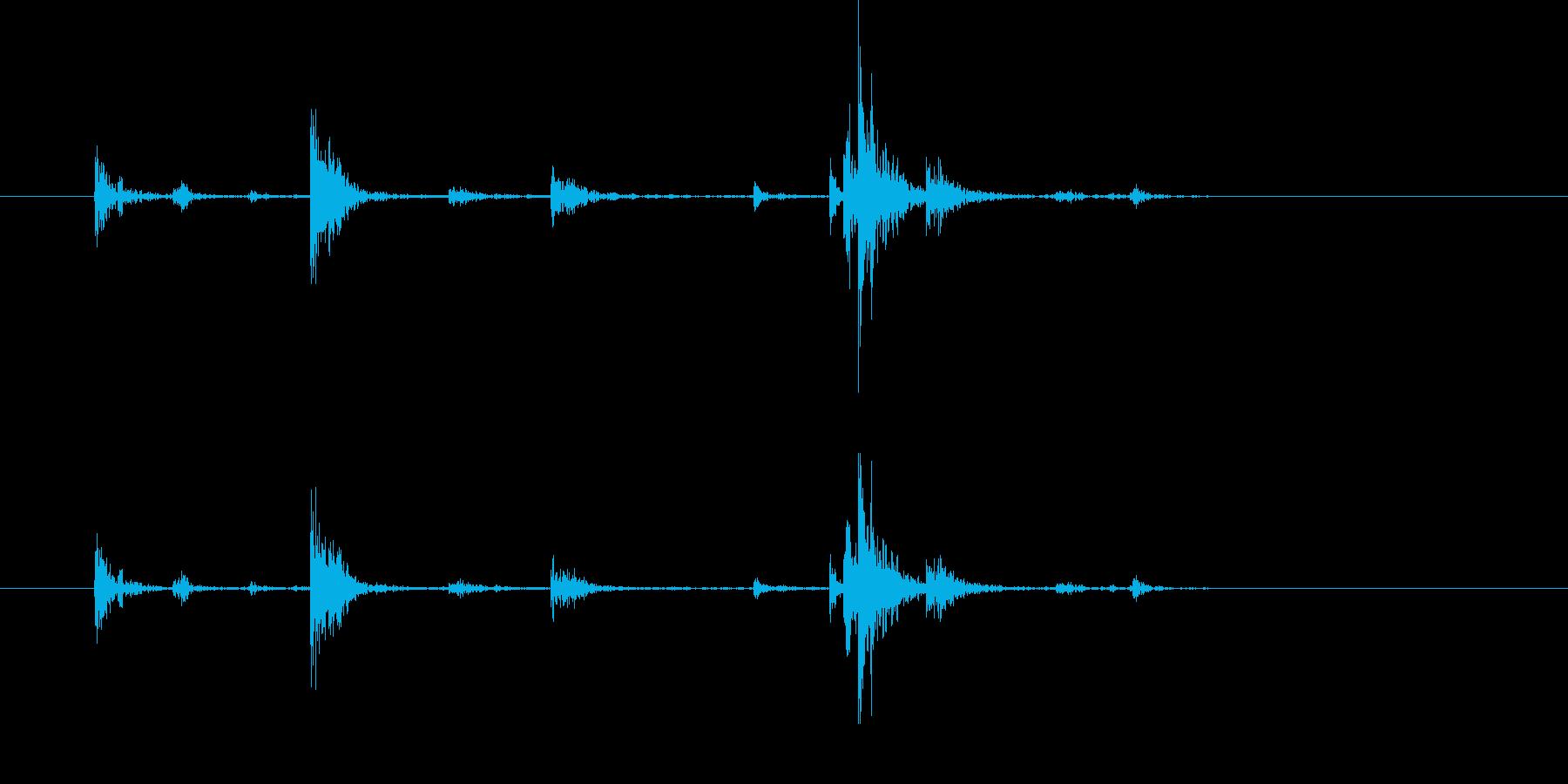 アンティークプッシュボタン電話:受...の再生済みの波形