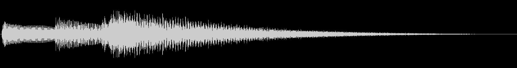 【ピアノ生演奏】安らぐジングルの未再生の波形