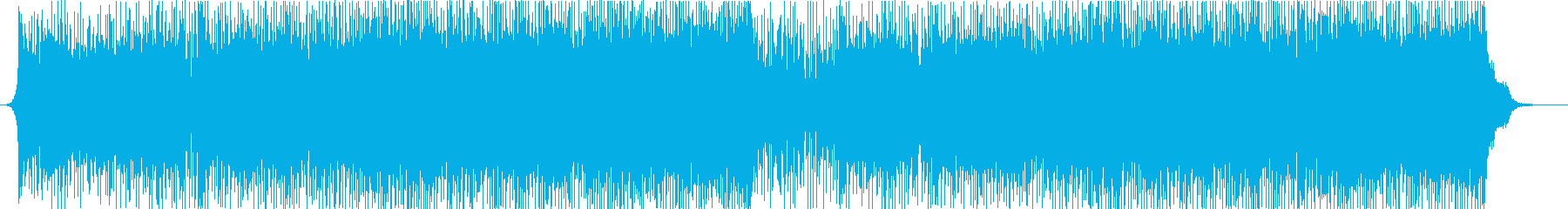 Uplifting bright dance pop music's reproduced waveform