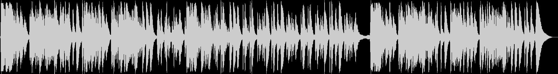 弦楽器の快適なイージーリスニング曲の未再生の波形