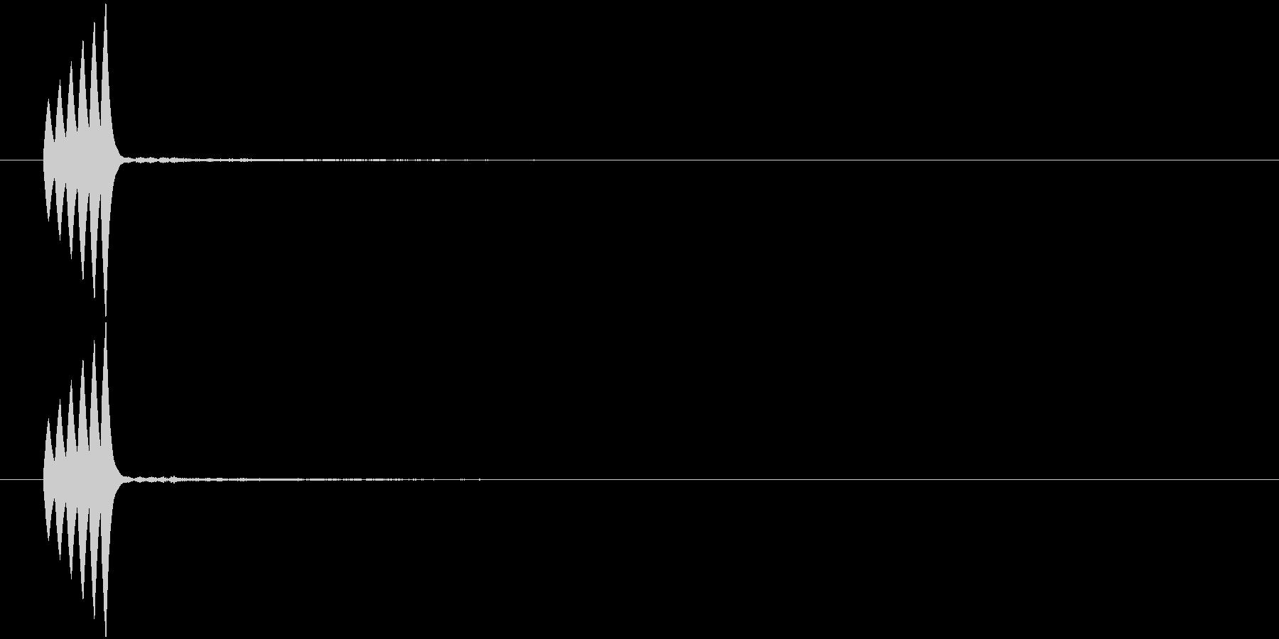 ピロリ①(決定・カーソル・メニュー)の未再生の波形