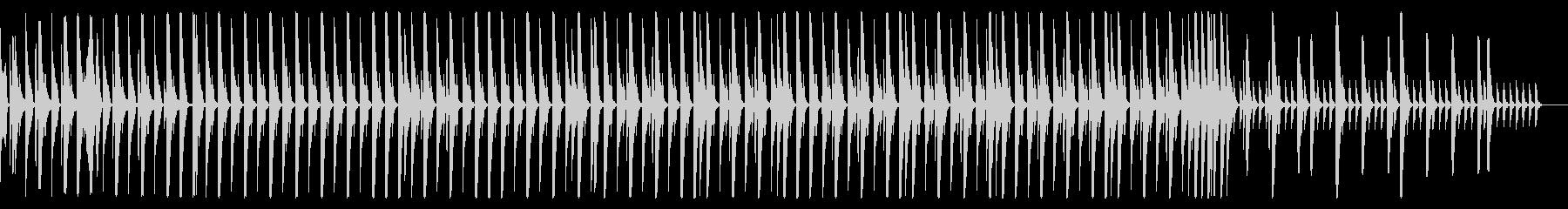 EDM風 リズムのみ 1分の未再生の波形