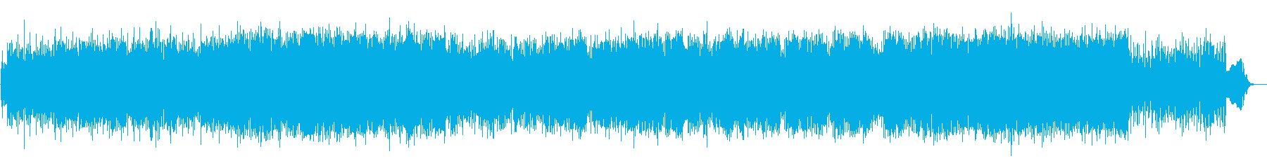 尺八と三味線の勢いのある和風テクノ生演奏の再生済みの波形