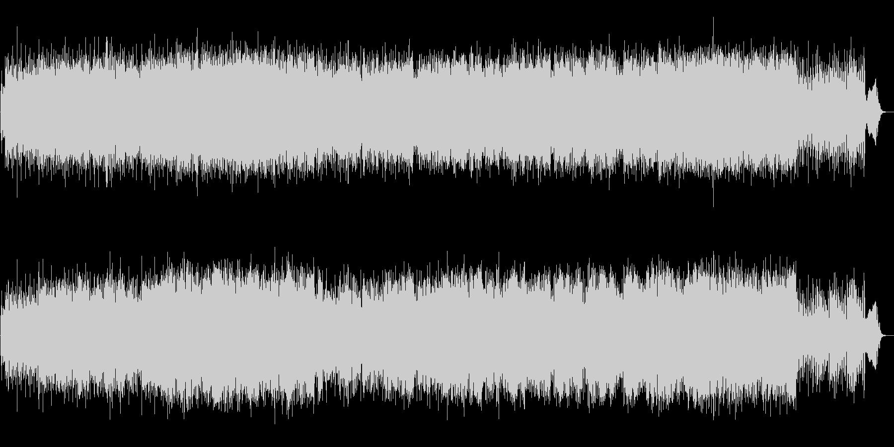 尺八と三味線の勢いのある和風テクノ生演奏の未再生の波形
