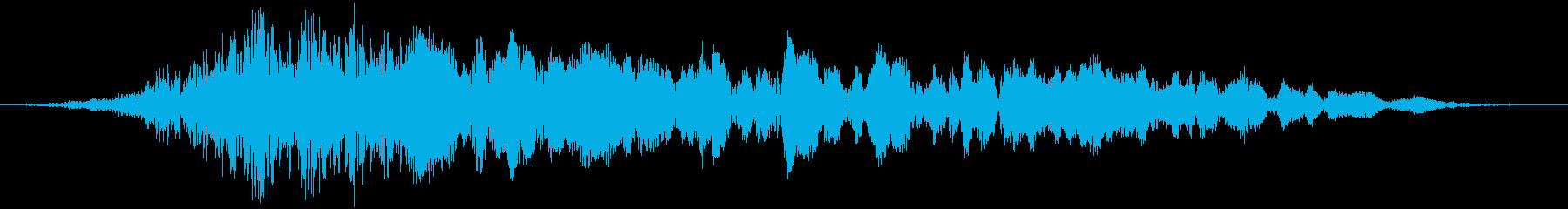 ダークな雰囲気のタイトル(SF・ホラー)の再生済みの波形