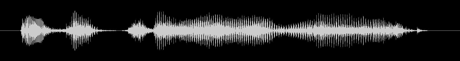中年の女性A:大声で叫ぶために!の未再生の波形