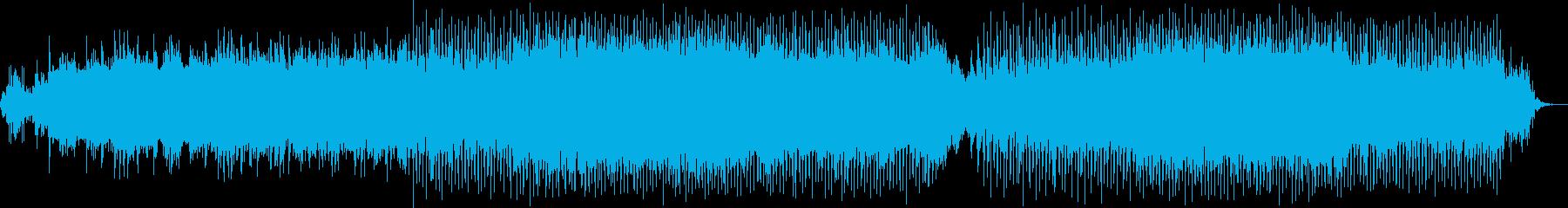前向きな明るいテクノの再生済みの波形
