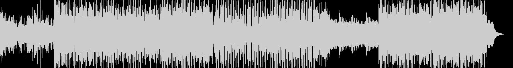 爽やかなハウスミュージックの未再生の波形