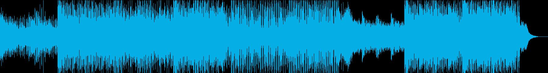 爽やかなハウスミュージックの再生済みの波形