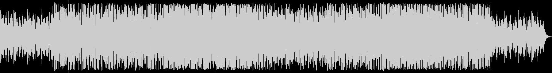 激しいテクノロック調のBGMの未再生の波形