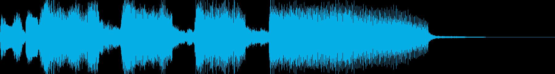 ファンクなワウギターのジングルの再生済みの波形