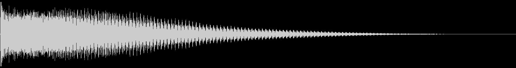 ピアノ不協和音 MEの未再生の波形