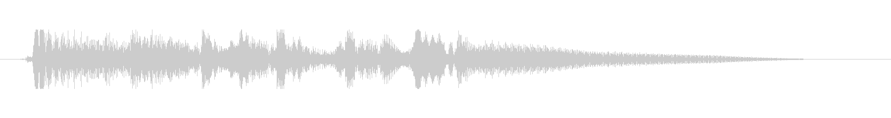 アコースティックギター 場面転換➄ ソロの未再生の波形