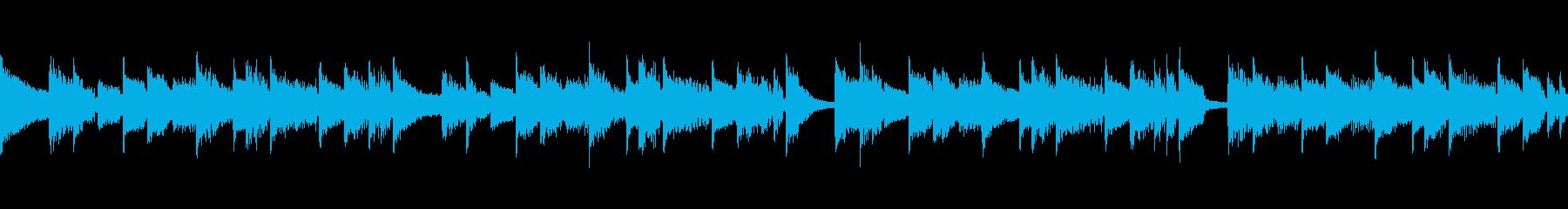 ループできるほのぼの日常系BGMの再生済みの波形