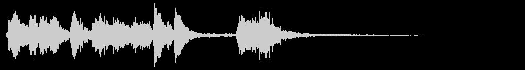 コミカルなクラリネットのジングル01の未再生の波形