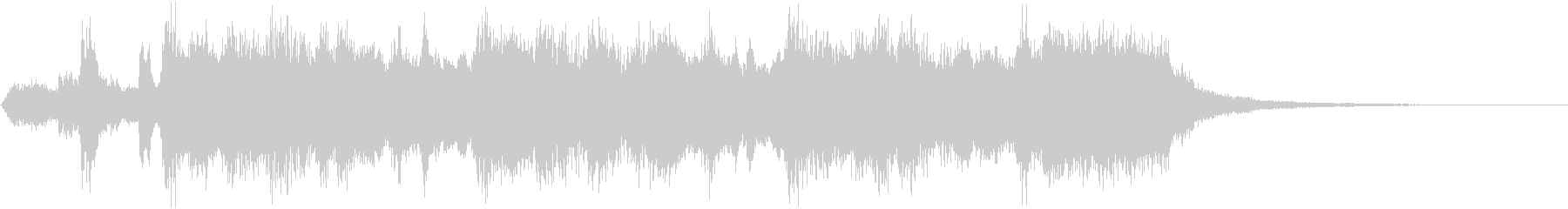 華麗なオーケストラ・ファンファーレの未再生の波形