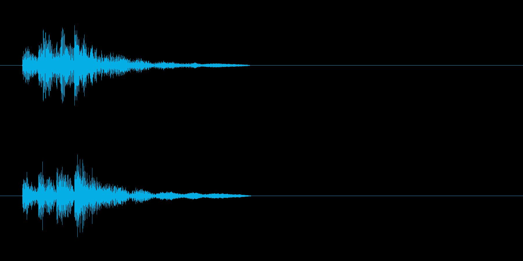 ドラム、トム、タイプA、アクセント...の再生済みの波形