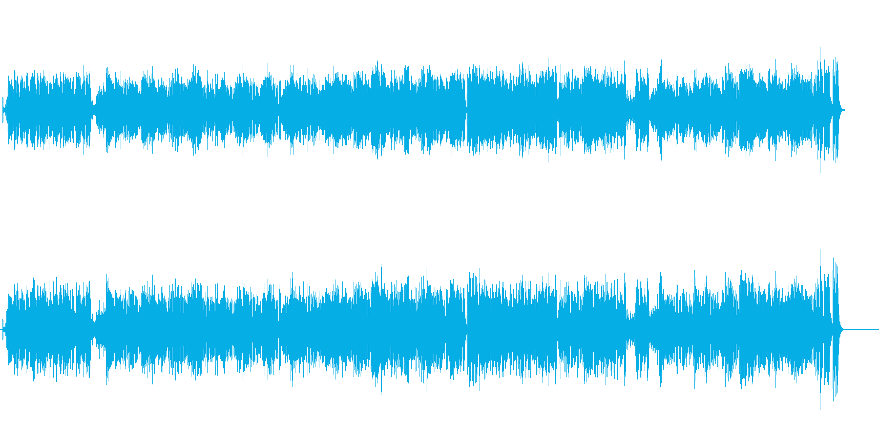 ヨーロピアンカラーの端麗なポップチューンの再生済みの波形