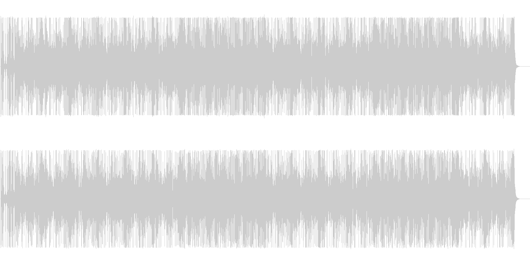 シンセ音がミステリアスなBGMの未再生の波形