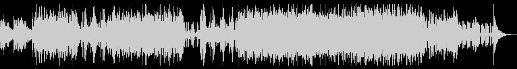 無機質なヒップホップ風ダンスインストの未再生の波形