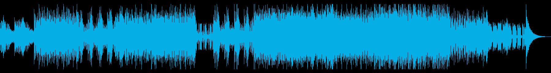 無機質なヒップホップ風ダンスインストの再生済みの波形