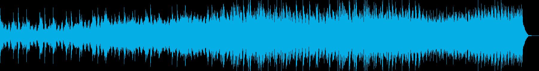 感動的エキサイティングEDMエンディングの再生済みの波形
