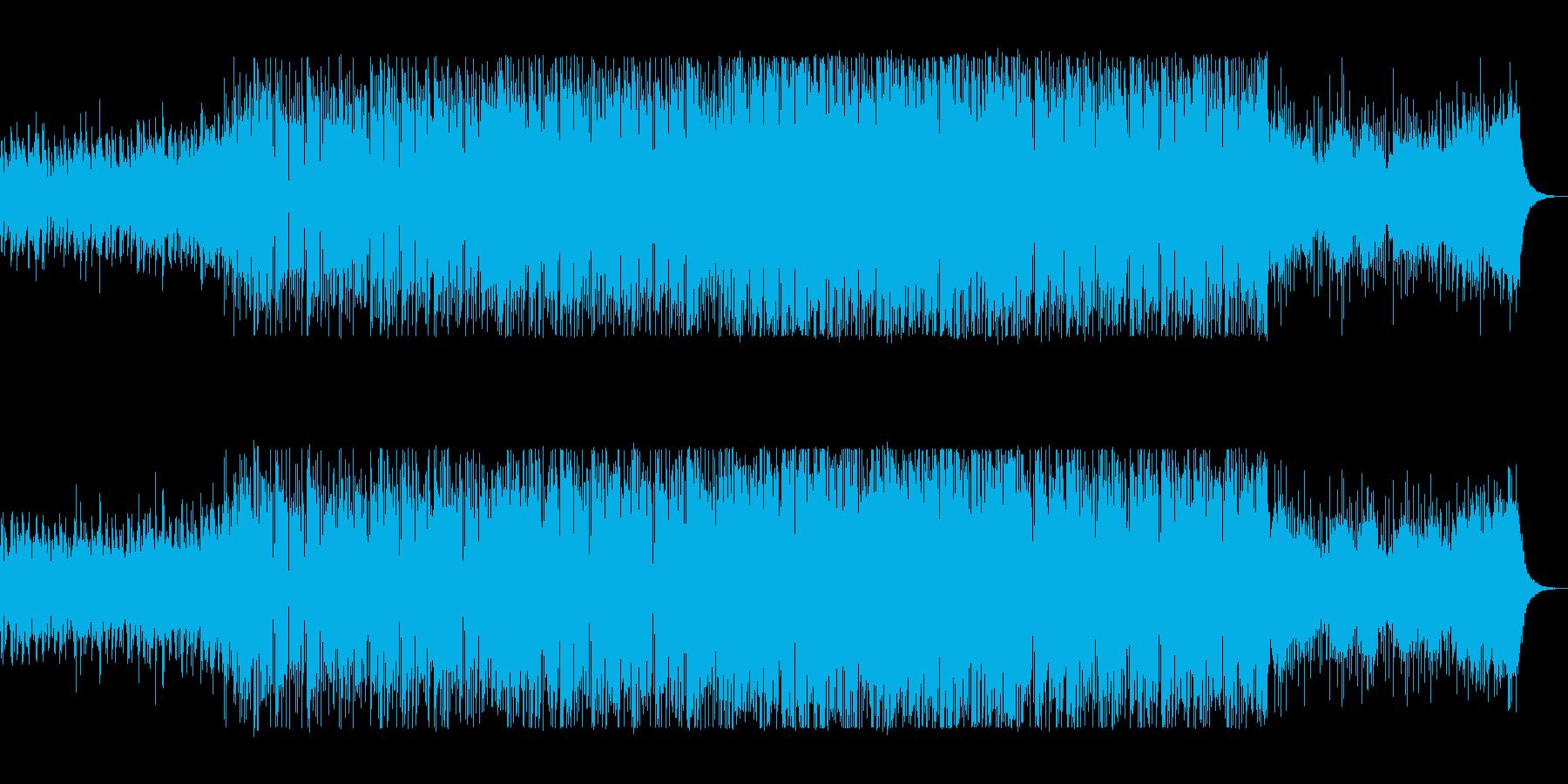 ラテン系のノリノリなサウンドの再生済みの波形