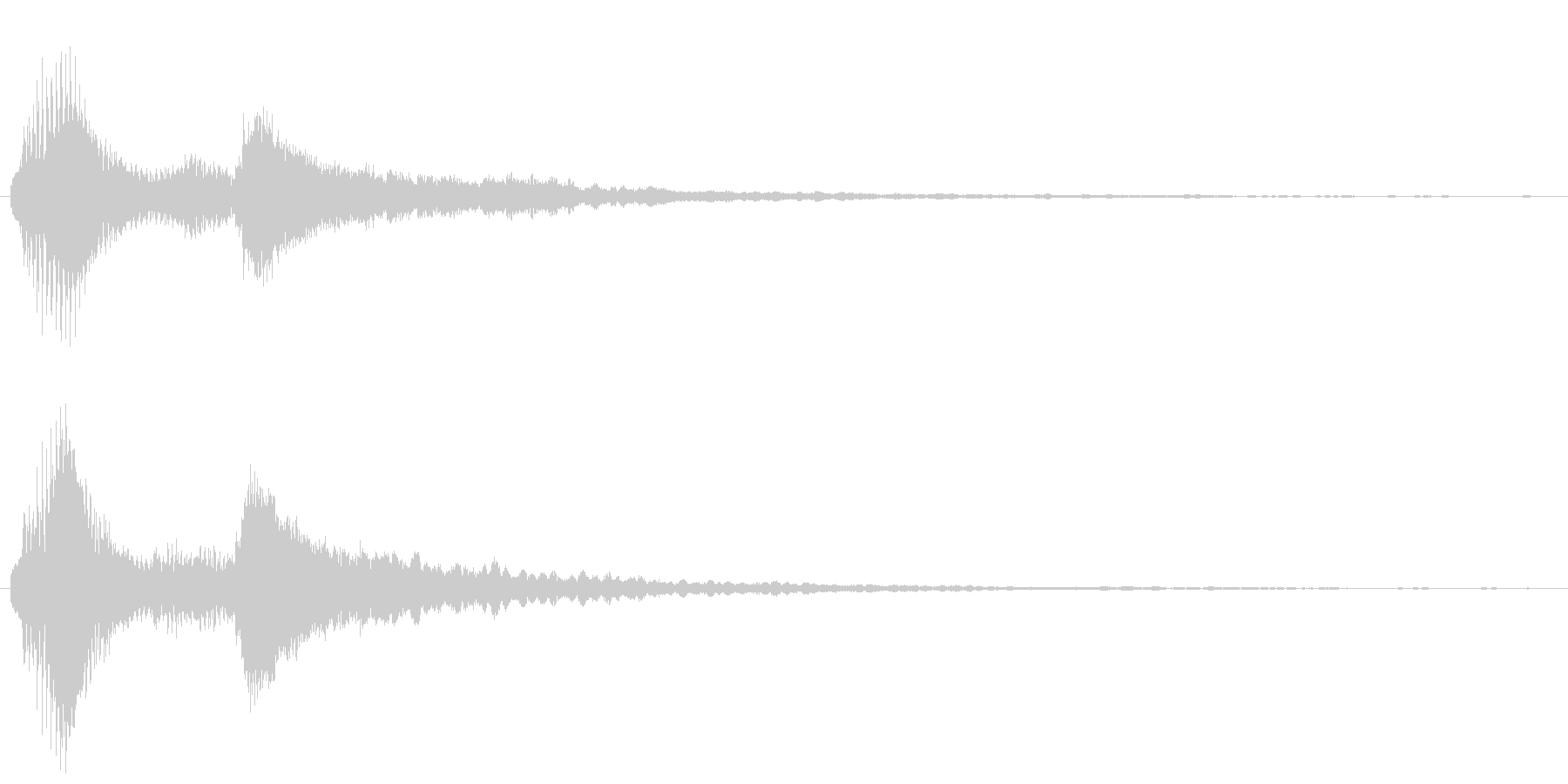 ベル系の余韻長めのボタン音2の未再生の波形
