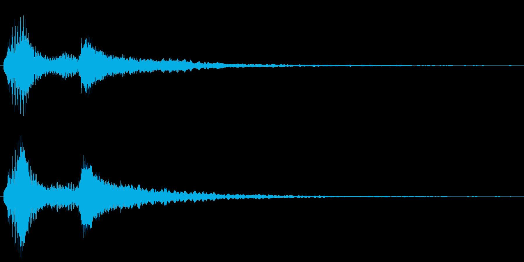 ベル系の余韻長めのボタン音2の再生済みの波形