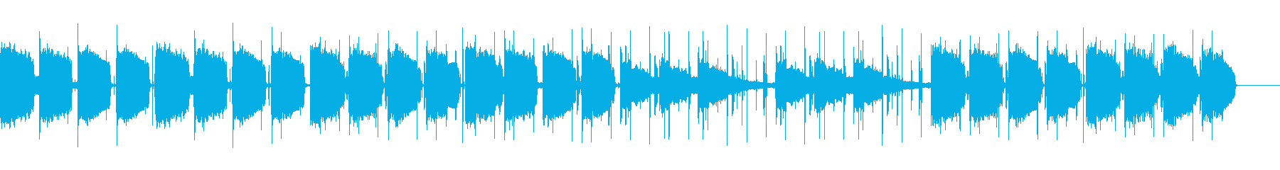 エモい雰囲気のBGMの再生済みの波形