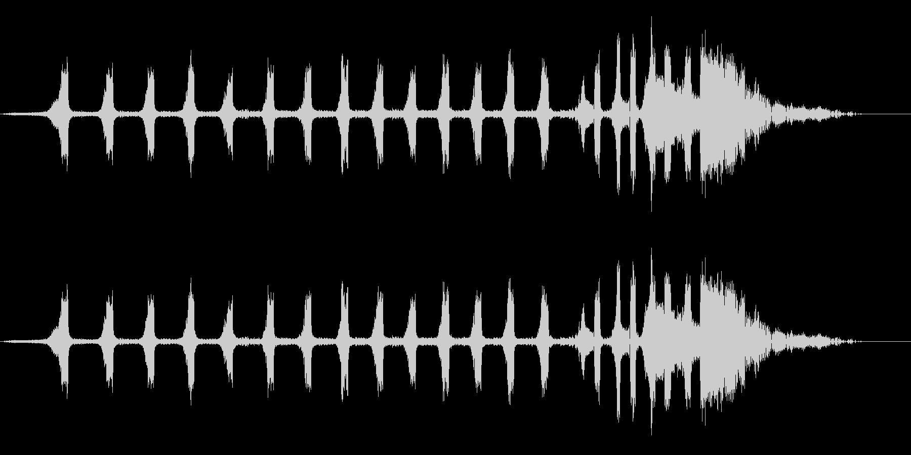 セミ(ツクツクボウシ)の鳴き声_その2の未再生の波形