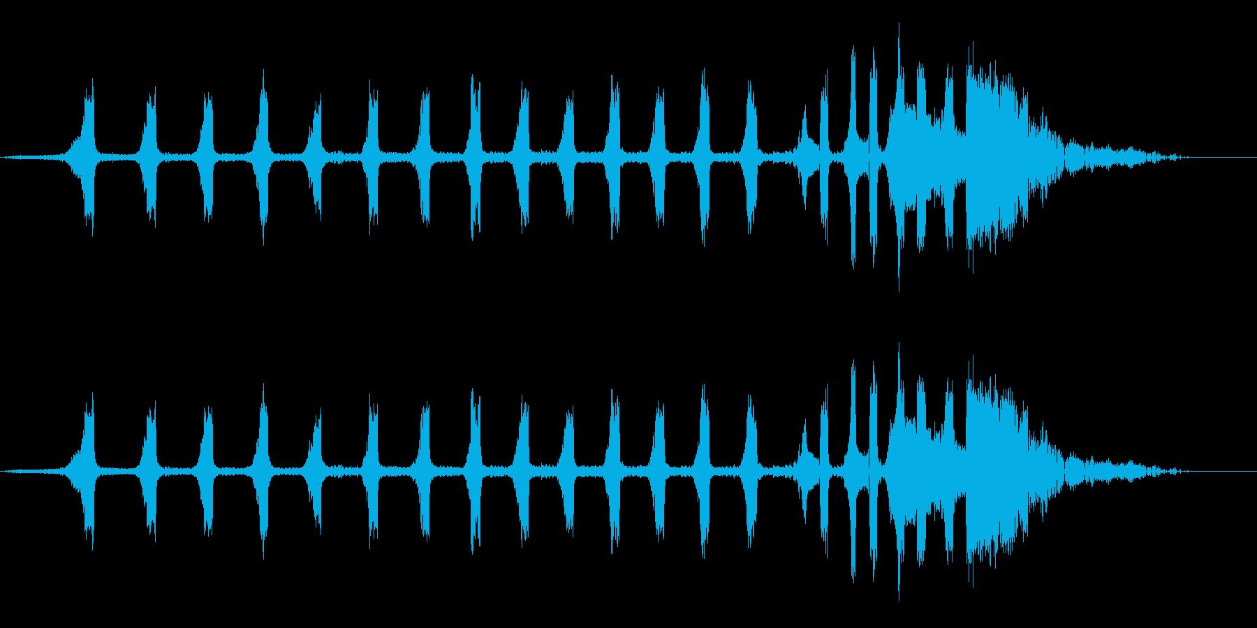セミ(ツクツクボウシ)の鳴き声_その2の再生済みの波形