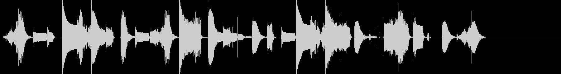 エレピでエレクトロのんの未再生の波形