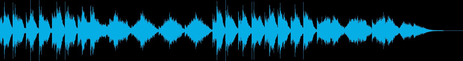 雅な雰囲気の静かな和のオーケストラ2の再生済みの波形