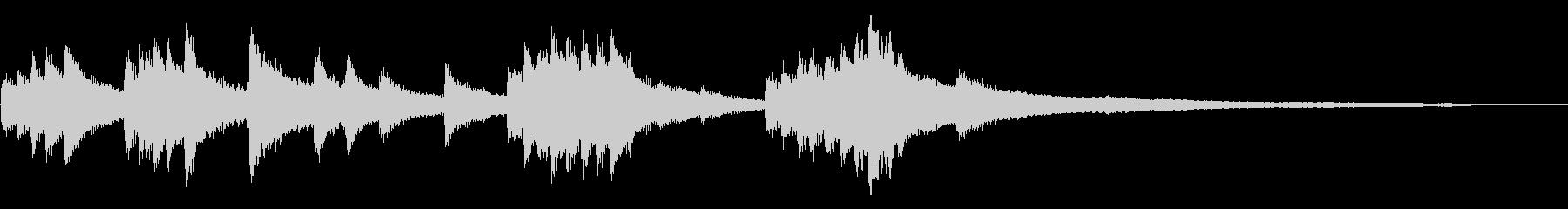 和風のジングル9-ピアノソロの未再生の波形