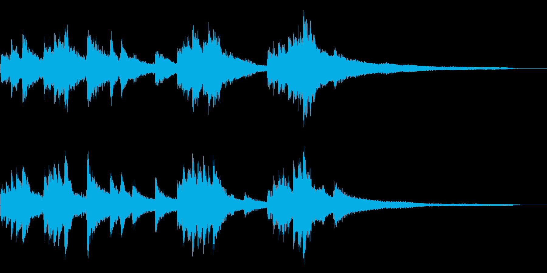 和風のジングル9-ピアノソロの再生済みの波形