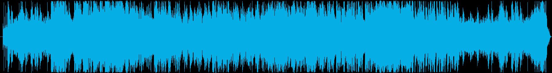 エレキとストリングスのかっこいいループ曲の再生済みの波形