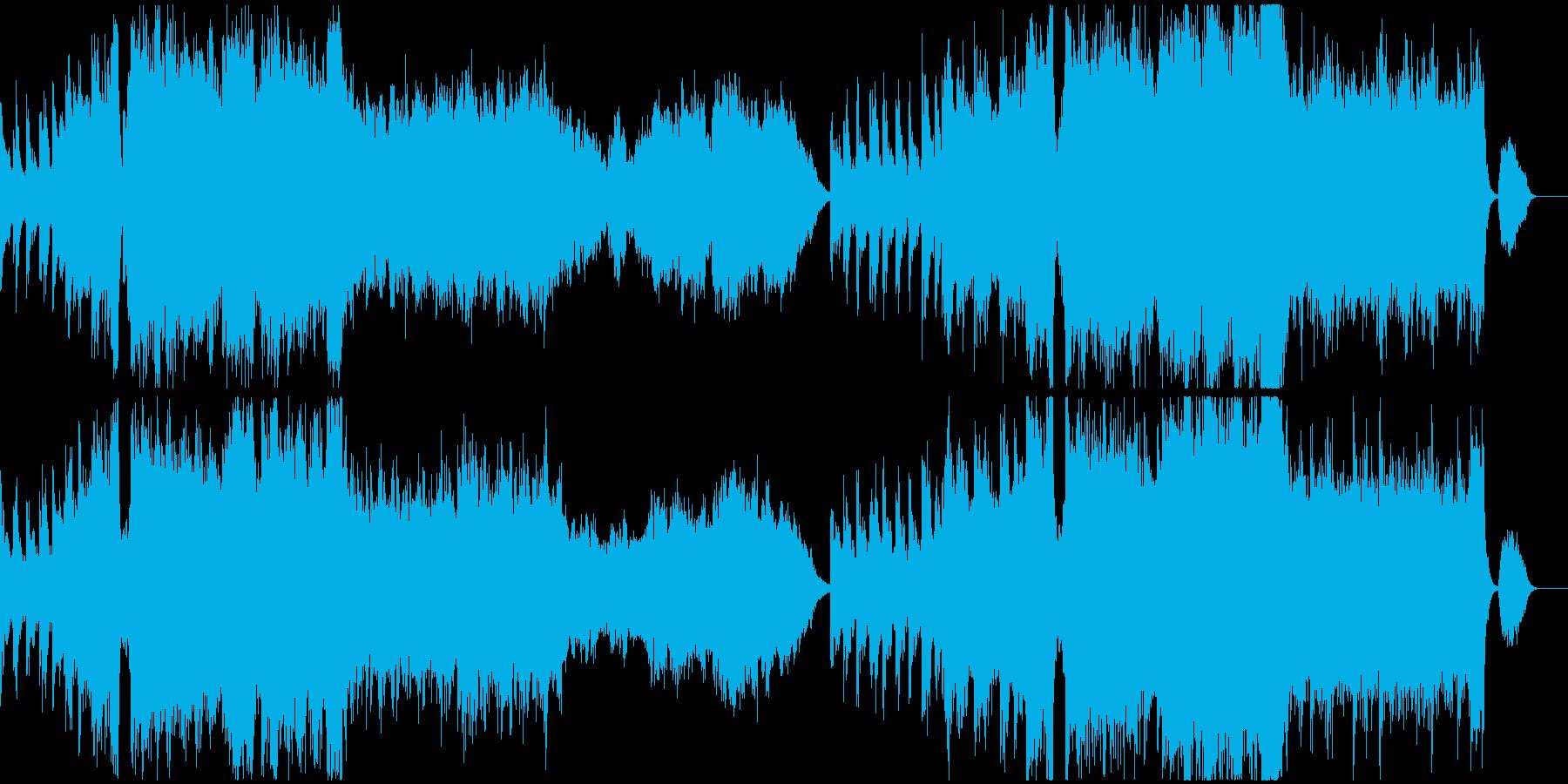 壮大で希望を感じる雰囲気のBGMの再生済みの波形