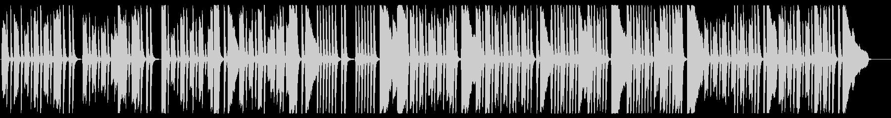 楽しげなピアノワルツの未再生の波形