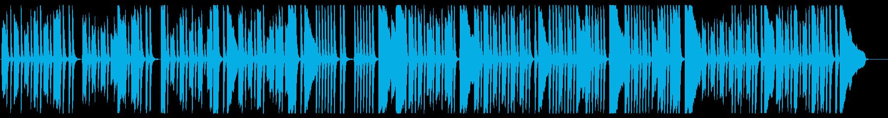 楽しげなピアノワルツの再生済みの波形